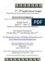 2008 7th - 9th Soccer Information