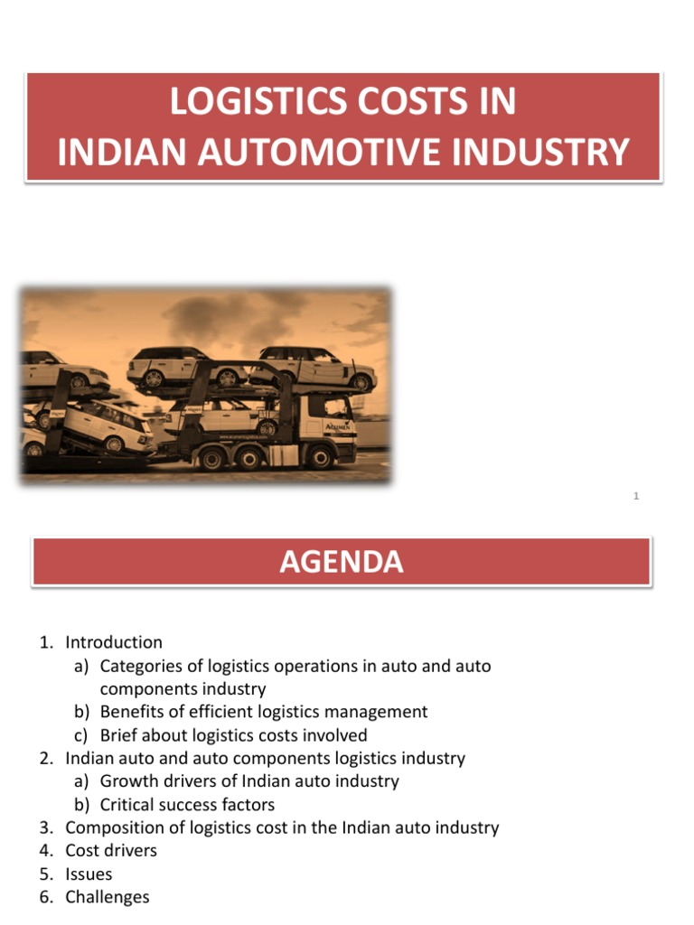 3- Logistic Cost in Automotive Industry | Logistics | Inventory