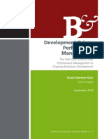 Development Driven Performance Management