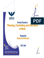 Planning, Controlling and Allocation of Work