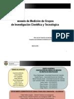 Presentacion Modelo de Medicion. Resumen. Colciencias. Abril 2012