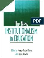 Heinz-Dieter Meyer, Brian Rowan the New Institutionalism in Education 2006