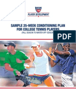Sample Conditioning Plan