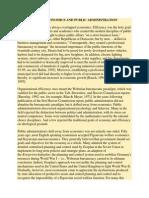 Public Economics and Public Administration