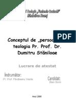 """Conceptul de """"persoana"""" in Teologia Pr.Prof.Dr. Dumitru Stăniloae"""