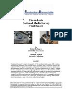 USAID Timor-Leste National Media Survey Final Report 2007