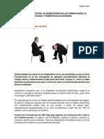 DEBIDO PROCESO-Con El Debido Proceso, Se Deben Respetar Las Formalidades, Al Empleado y Permitir Que Se Defienda