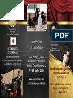 Brochure Masterclass Monika Lukacs e Stefano LIgoratti