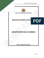 Proyecto de Ley Minera, Bolivia