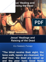 Jesus Healing and Raising the Dead in the New Testament of the Bible