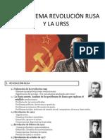 GUIÓN TEMA REVOLUCIÓN RUSA Y LA URSS
