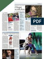 Articolo corriere 25 ottobre 2009