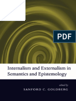 62134988 Internal Ism and External Ism in Semantics and Epistemology