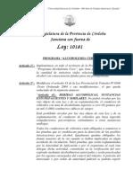 Ley 10181 Alcoholemia Cero