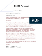 2005 and 2006 Forecast