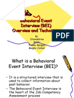Behavioral Event Behavioral Event Interview (BEI) Interview (BEI) Overview And