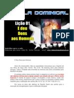 Cometário - Licao 1 - EBD - E Deu Dons aos Homens.docx