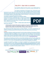 Open Letter European Elections May 2014