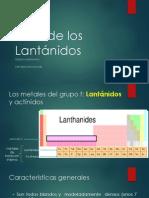 Serie de Los Lantanidos