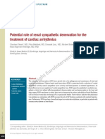 Potential Role of Renal Sympathetic Denervation