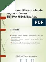 Ecuaciones Diferenciales de Segundo Orden SISTEMA RESORTE-MASA