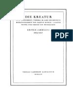 Buber Die Kreatur Editorial