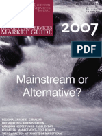 INVESTOR SERVICES JOURNAL HEDGE FUND SERVICES MARKET GUIDE 2007