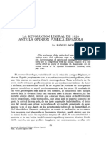 La revolucion liberal de 1820 ante la opinion publica española