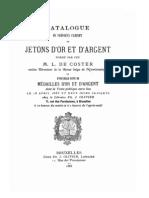 Catalogue du précieux cabinet de jetons d'or et d'argent, formé par feu M. L. de Coster ...