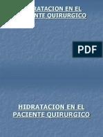 Hidratacion en El Paciente Quirurgico