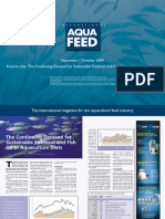 The Continuing Demand for Sustainable Fishmeal and Fish Oil in Aquaculture Diets