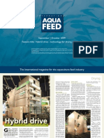 Hybrid drive - technology for drying aquafeeds