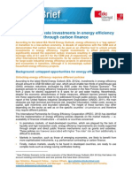 13-02-12 Climate Brief No27 - Energy Efficiency and Carbon Finance