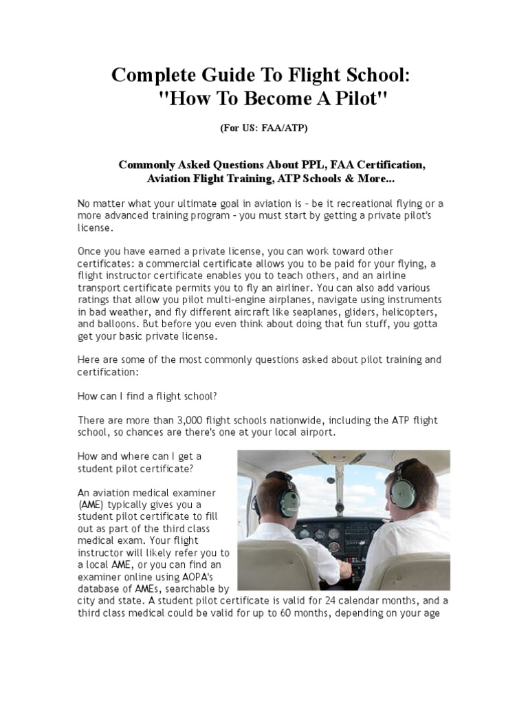 How To Become A Pilot Learn To Fly Helicopter Or Fixed Wing Plane