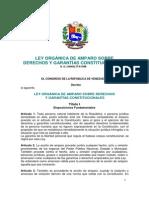 22. Ley Orgánica de Amparo sobre Derechos y Garantías Constitucionales