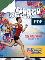 Cleveland Marathon Results Book 2009