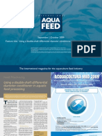 Using a double-shaft differential diameter conditioner in aquatic feed processing