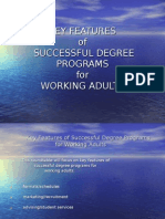 Key Features of Successful Degree Programs for Working Adults