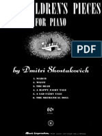 Sostakovic   For Children piano pieces