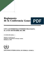 Reglamento de la Conferencia General  de la Organizacion Internacional para la Energía Atómica (OIEA)