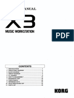 Korg X3 - Service Manual