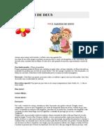 CRIANÇAS -PROPOSTA DE CULTO INFANTIL-  JARDIM DE DEUS
