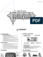 Castlevania NES Game Manual (Konami, 1987)
