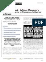 La Franc Maconnerie Dissequee Partie 1 Puissance, Influence Et Rituels