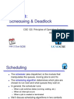 Scheduling and Deadlock