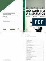 Francais de l'Hotellerie Et de La Restauration