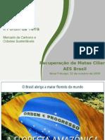 Apresentação de slides da AES Tietê (Demóstenes Barbosa) - II Fórum da Terra