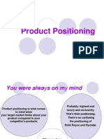 Product Positioning[ Mba