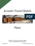 Acoustic Travel Ukulele Plans