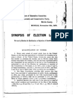 1875 Synopsis of Election Laws Alabama Redeermer Constitution